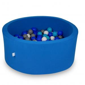 Ball Pit 90x40cm azure with balls 300pcs (turquoise, blue, white, gray)