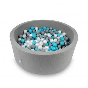 Ball Pit 115x40cm gray with balls 500pcs (turquoise, gray, pearl)