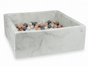 Ball Pit 110x110x40 marble with balls 600pcs (rosegold, gray, pearl)
