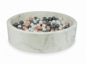 Ball Pit 110x30 marble with balls 400pcs (rosegold, gray, pearl)