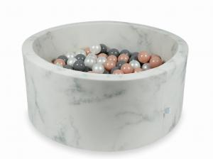 Ball Pit 90x40 marble with balls 300pcs (rosegold, gray, pearl)