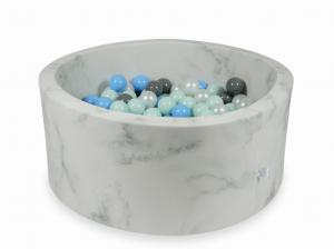Ball Pit 90x40 marble with balls 300pcs (light mint, baby blue, gray, pearl)