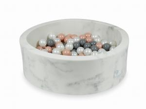 Ball Pit 90x30 marble with balls 200pcs (rosegold, gray, pearl)