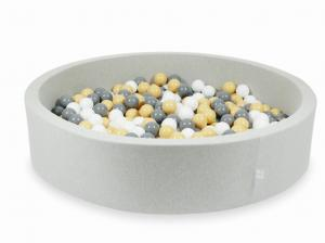 Ball Pit light gray 130x30 with balls 600pcs (beige, gray, white)