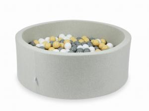 Ball Pit light gray 110x40 with balls 500pcs (beige, gray, white)