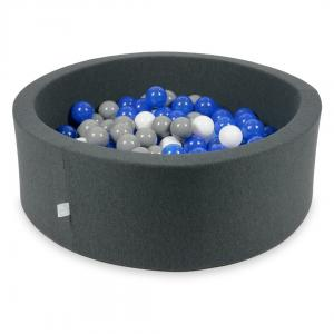 Ball Pit graphite 90x30 with balls 200pcs (blue, white, gray)