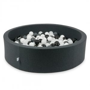Ball Pit graphite 110x30 with balls 400pcs (white, graphite, black, wooly white)