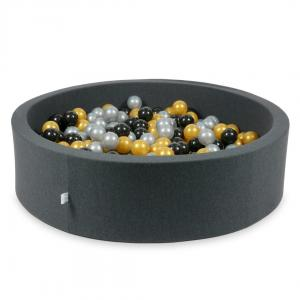 Ball Pit graphite 110x30 with balls 400pcs (silver, gold, black)