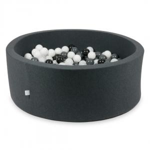 Ball Pit graphite 110x40 with balls 500pcs (white, graphite, black, wooly white)