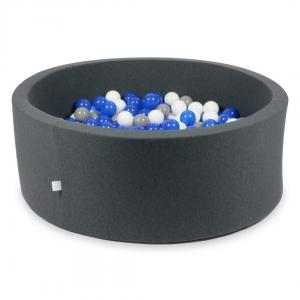 Ball Pit graphite 110x40 with balls 500pcs (blue, white, gray)