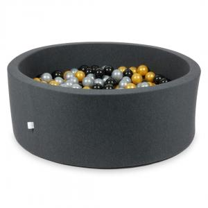 Ball Pit graphite 110x40 with balls 500pcs (silver, gold, black)