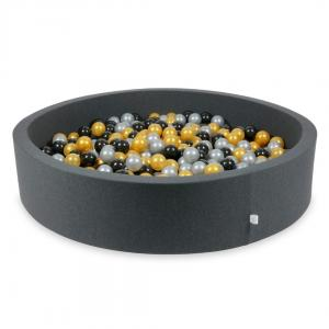 Ball Pit graphite 130x30 with balls 600pcs (silver, gold, black)