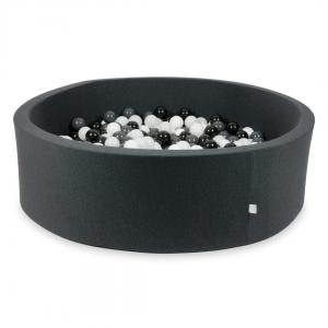 Ball Pit graphite 130x40 with balls 700pcs (white, graphite, black, wooly white)