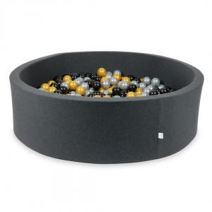 Ball Pit graphite 130x40 with balls 700pcs (silver, gold, black)