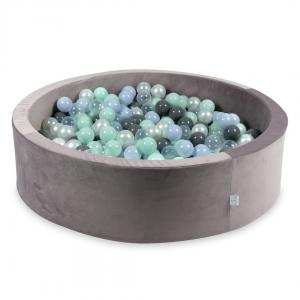 Ball Pit with balls 400pcs 115x30 velvet lilac (light mint, baby blue pearl, gray, transparent, pearl)
