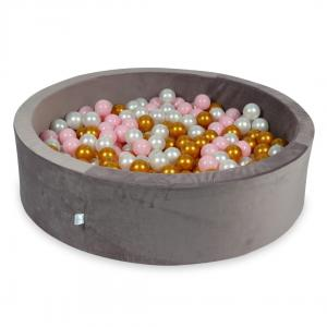 Ball Pit with balls 400pcs 115x30 velvet lilac (baby pink, pearl, gold)