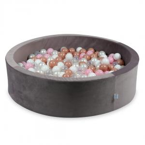 Ball Pit with balls 400pcs 115x30 velvet lilac (transparent, white, pearl, baby pink, rosegold)
