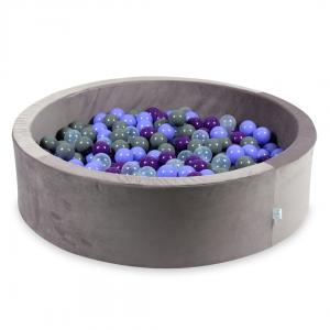 Ball Pit with balls 400pcs 115x30 velvet lilac (transparent, heather, purple, gray)