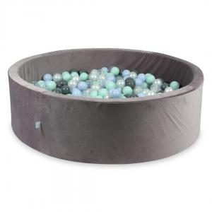 Ball Pit with balls 700pcs 130x40 velvet lilac (light mint, baby blue pearl, gray, transparent, pearl)