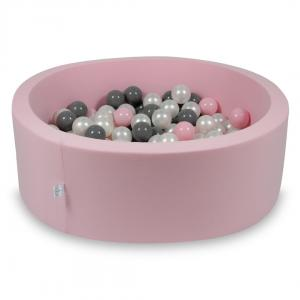 Ball Pit rose 90x30 with balls 200pcs (pearl, gray, baby pink)
